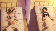 Izuku y All Might recuperándose