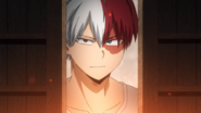 Shoto watches Endeavor's breakdown