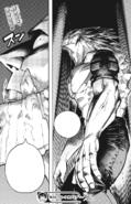 Gigantomachia senses Tomura's awakening