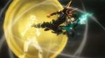 Izuku and Katsuki attack Nine in unison
