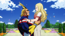 All Might reunites with Melissa Shield
