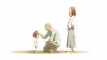 La joven Ochaco con sus padres