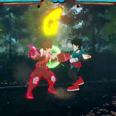 Katsuki agarra a su oponente