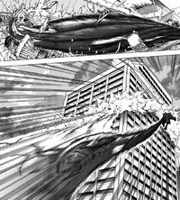 High-End throws Endeavor through a building