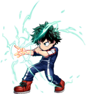 Brave Frontier 7 Star Izuku Midoriya Unit Art
