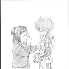 Izuku y su madre.