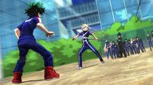 Aizawa detiene a Katsuki