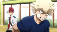 Shoto Todoroki asks Katsuki Bakugo about his punishment