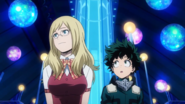 Melissa Shield shows Izuku around the pavilion