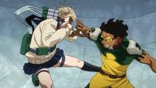 Himiko Toga attacks Rock Lock