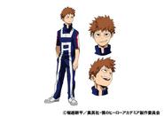 Kosei Tsuburaba TV Animation Design Sheet