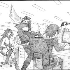 Aizawa y los profesores.