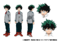 Izuku Midoriya TV Animation Design Sheet