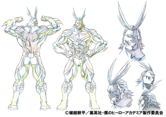 All Might's Anime Character Design