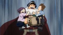 Inasa Yoarashi gets along with the kids anime