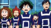 Izuku y sus compañeros perplejos