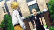 Katsuki confronts All Might about Izuku