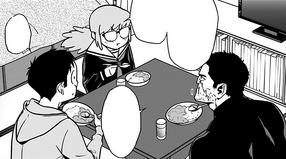 Koichi, Kazuho and Iwao eating