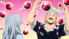 Mirio tells Eri about candy apples