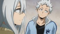 Natsuo le dice a Rei que Endeavor se convirtió en el héroe número 1 (anime)