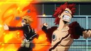 Denki and Eijiro fighting