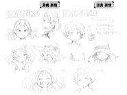 Mahoro and Katsuma expression drafts