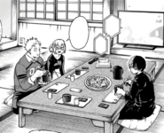 The todoroki family eating