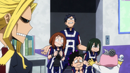Izuku's friends check on him