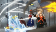 Katsuki, Shoto, and Inasa stop the kids attacks