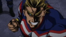 All Might arrives at the hideout