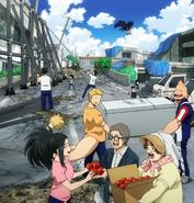 Class 1-A helps in rebuilding Nabu Island 01