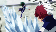 Izuku avoids the ice