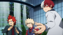 Katsuki, Shoto & Eijiro ready to fight