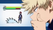 Katsuki ponders over Shoto's ice