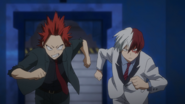 Shoto and Eijiro rush to help Ochaco