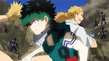 Izuku and Mashirao vs Gang Orca's sidekicks