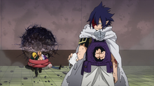 Tamaki Amajiki defeats Setsuno, Hojo, and Tabe (Anime)