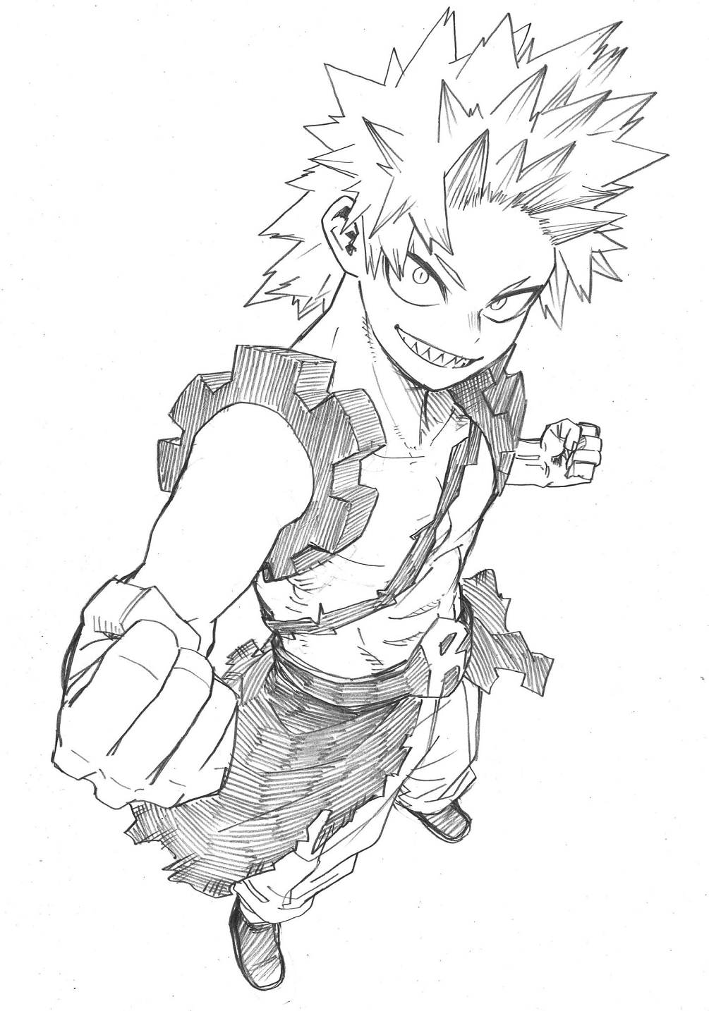 Eijiro Kirishima Figure Reveal Sketch