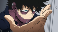 Dabi gets ready to attack (anime)