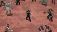 Shota surrounded by enemies