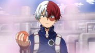 Shoto Todoroki passes the first test