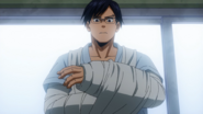 Tenya's injured arms