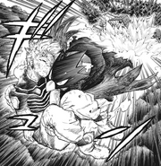 Fumikage and Hawks escape the battle