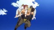 All Might saves David