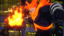 Endeavor attacking Nomu