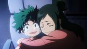 Inko comforting Izuku