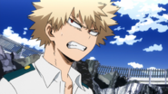 Katsuki Bakugo frustrated he failed the exam