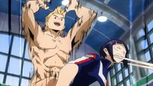Mirio attacks Kyoka Jiro