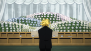 All Might at Sir Nighteye's funeral