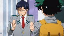 Tenya acknowledges Izuku